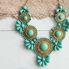 Bohemian Romance Necklace in Mint, Sweet Bohemian Necklaces from Spool 72. | Spool No.72