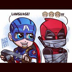 Language!!! Cap vs Marvel's biggest potty mouth!! Lord Mesa