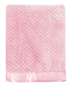 Look at this #zulilyfind! Pink Mon Lapin Popcorn Plush Blanket by Northpoint Trading Inc. #zulilyfinds