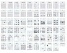Exemples de disposition visuelle de pages web