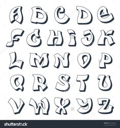 Graffiti Abc Vorlagen Alphabet Cool Street Style Font In Buchstaben A Z