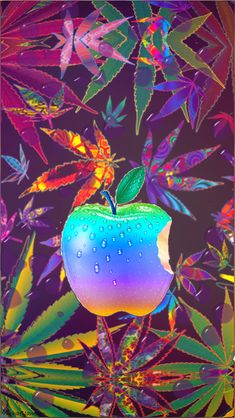 Weed Wallpaper, Phone Screen Wallpaper, Apple Logo Wallpaper Iphone, Wallpaper Iphone Disney, Weed Backgrounds, Apple Background, Turquoise Art, Phone Logo, All Art