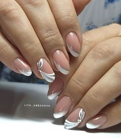French Manicure Nail Designs, Classy Nail Designs, Acrylic Nail Designs, Nail Art Designs, Chic Nails, Stylish Nails, Elegant Touch Nails, Art Deco Nails, Beauty Hacks Nails