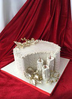 Christmas Themed Cake, Christmas Cake Designs, Christmas Cake Decorations, Christmas Cupcakes, Christmas Sweets, Holiday Cakes, Merry Christmas, Xmas Cakes, Pretty Cakes