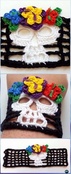 Crochet Dead Skull Bracelet Free Pattern - Crochet Skull Ideas Free Patterns