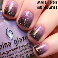Most Sexy and Popular Light Glitter Ombra Nails Design for Prom and Wedding This Year - Nail Idea 38 .^]ノ 𝕺𝖒𝖇𝖗𝖆 𝕹𝖆𝖎𝖑𝖘 Purple Nail Designs, Gel Nail Designs, Nails Design, Purple Ombre Nails, Black And Purple Nails, Violet Nails, Black Ombre, Dipped Nails, Nagel Gel