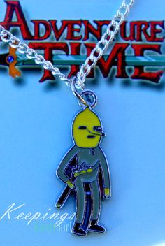 Adventure Time The Earl of Lemongrab silver necklace