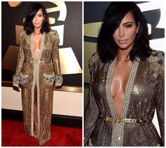 Kim Kardashian West 2015 Grammy's - Favorite Red Carpet Looks | roziecheeks.com