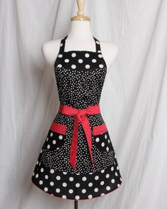 Vintage inspired Apron Retro Style Fun and Flirty by apronqueen
