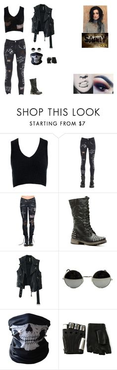 """""""Chaos Unleashed."""" by shadow-182 ❤ liked on Polyvore featuring Sans Souci, GaÃ«lle Bonheur, Free People, BUFF, Majesty Black and Ultimate"""