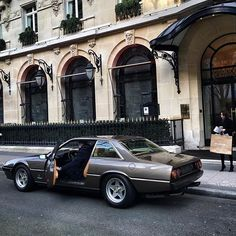 Ferrari 400i a at Hotel Athenee, Paris