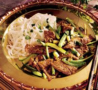 SPICY THAI GINGER BEEF *Wok or large skillet http://www.bhg.com/recipe/meat/spicy-thai-ginger-beef/