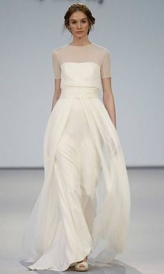 simple but elegant satin wedding dresses makes your bridal dream comes true Image via: HERE Beach Wedding Dresses Perfect For A Destination Wedding, simple wedding dress ,thin straps wedding gown weddingdress wedding. Dresses Elegant, Elegant Wedding Dress, Beautiful Dresses, Wedding Gowns, Wedding Ceremony, Wedding Outfits, Chiffon Wedding Dresses, High Neck Wedding Dresses, Dress For Wedding