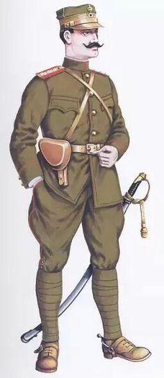 Greek Army infantry WW1, officer, pin by Paolo Marzioli
