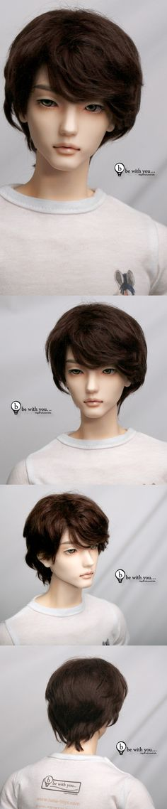 Be With You...The MOST amazing BJD!  Only the one male (Wood) who can be customized with three different face-ups (shown is C).  The company has an exterior mechanism under the wig by which the eyes can be repositioned AND a new system for ensuring that the body parts hold the posing positions.  Too bad that he is almost $1K without any clothing...