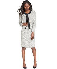 14e38f2c5 Kasper Collarless Tweed Jacket & Pencil Skirt & Reviews - Wear to Work -  Women - Macy's. Winter SuitSkirt SuitsSkirt ...