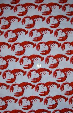 Michael Miller fabric Red LOBSTERS