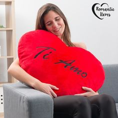 On a special day, show your partner you love them with the giant cuddly Ti Amo heart Romantic Items! This soft heart is the perfect way to remind Heart Emoticon, Heart Cushion, Soft Heart, Love Photos, Partner, My Love, Shopping, Html, Valentine Gifts