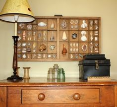 Stunning Shadow Display Boxes, from antique printer trays to drawers