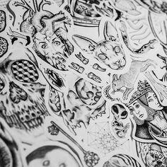 In progress #flash #tattoo #tattooflash #tattoodesign #dotwork #blackwork #linework