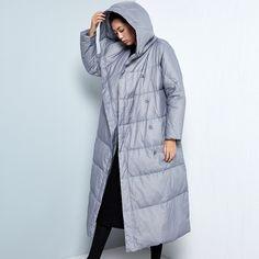 BC051 Новое Прибытие 2016 случайные капюшоном женщин зимнее пальто толстые теплые белая утка пуховик длинный купить на AliExpress