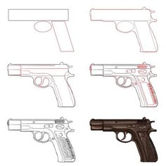 draw Tutorials — anatoref: Drawing Guns Row 3 Everything Else