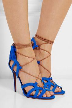 Aquazzura|Mirage suede sandals |NET-A-PORTER
