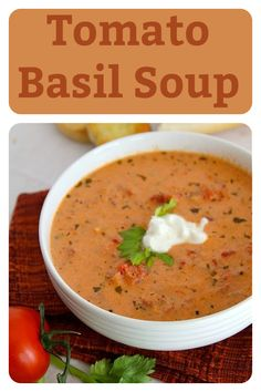 Our Tomato Basil Soup Recipe is one of our most popular recipes ever posted on CWR and with that kind of introduction you've gotta make some tonight! So go and get cans of diced tomatoes, some onion, garlic, butter, basil, cream cheese, chicken broth, salt, and pepper and let's make this soup. #tomatobasil #tomatosoup #souprecipe #easyrecipe #fallrecipe Fall Recipes, Soup Recipes, Cooking Recipes, Most Popular Recipes, Favorite Recipes, Tomato Basil Soup, Food Processor Recipes, Garlic, Easy Meals