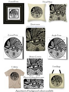 T-shirts, Tote Bags, Canvas Prints, Acrylic Prints, Duvet Covers, Throw Pillows and more available in colours of your preferance on http://leanadevilliers.com/