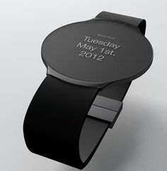 Touch Skin OLED Watch Concept. I don't usually like digital type watches but this one is pretty kewl