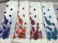 PC 1199 Designer Bridal Sarees Punjabi Salwar Suits, Bridal Sarees, White Suits, Designer Sarees, Beautiful Saree, Fabric Flowers, Embroidery Stitches, Indian Fashion, Alexander Mcqueen Scarf