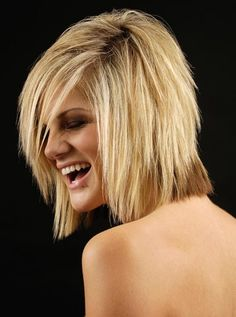 Hairstyles For Thin Hair - Jagged Part With Waves