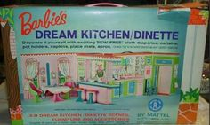 1965 Barbie's Dream Kitchen/Dinette I kept mine and just sold it on eBay for $700! But it was just the way it was when it was put away in 1967 and all of the little pieces were there. Ah, memories