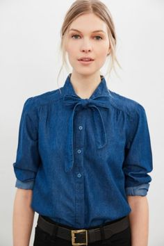 BDG Charlie Denim Button-Down Blouse - Urban Outfitters