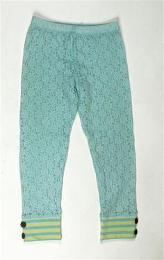 Mustard Pie Clothing - Georgia Lace Legging in Turquoise