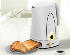 Coffee and toast all in one.