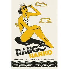 Vintage Finnish travel posters brought back to life Finland Travel, Beach Posters, Pub, Beaches In The World, Vintage Travel Posters, Great Artists, Nostalgia, Retro, Prints