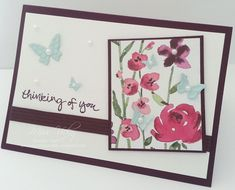 Thinking of You Card, Stamp Set - Sheltering Tree DSP - Painted Blooms Embosslits - Beautiful Wings Stampin' Up!