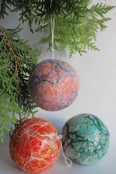 christmas ornaments felt balls christmas tree decorations