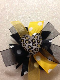 Black and Yellow Iowa Hawkeyes or Steelers by HelloKourtneyBows, $5.00    Please like my facebook. www.facebook.com/hellokourtneybows