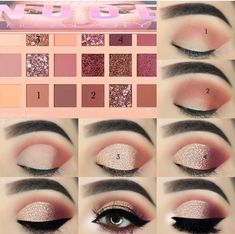 Great tutorial for beginners on eye make-up, fancy eye make-up ideas . - Great tutorial for beginners about eye make-up, unusual eye make-up ideas, eye make-up instructions … – Eye Makeup – # Beginner Makeup Instructions Sexy Eye Makeup, Makeup Eye Looks, Eye Makeup Steps, Eye Makeup Art, Smokey Eye Makeup, Skin Makeup, Eyeshadow Makeup, Eyebrow Makeup, Huda Beauty Makeup