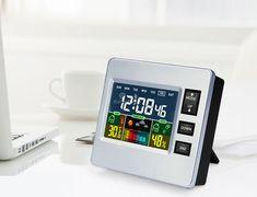 Multifunkciós LCD kijelzős időjárás állomás és óra Digital Alarm Clock, Smart Watch, Minden, Products, Smartwatch, Gadget