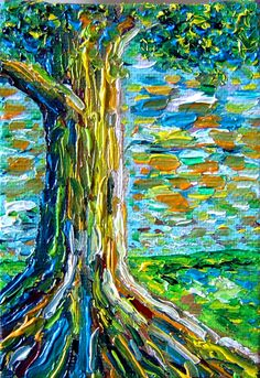 Colour Tree oil painting