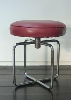 gispen nr 27 before 1940 Bauhaus Furniture, Art Deco Furniture, Steel Furniture, Retro Furniture, Mid Century Furniture, Furniture Design, Chicago Beach, Functionalism, Tubular Steel