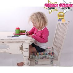 Our Award winning Booster is great fun for the kids! Colouring in book and crayons included :D http://www.minene.co.uk/shopdetails/cid/Toddler_time/pid/277