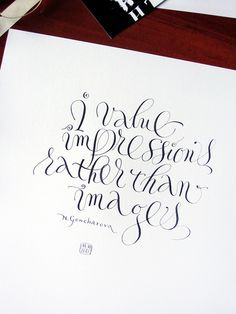 The work of calligrapher Marina Marjina