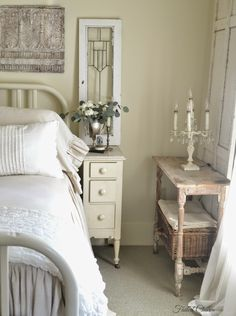 Shabby Chic Decor easy and awesome ideas - Super decor examples. simple shabby chic decor beautiful simple tip number pinned on this day 20190121 , Rustic Master Bedroom, Shabby Chic Bedrooms, Shabby Chic Homes, Shabby Chic Furniture, Bedroom Decor, Bedroom Ideas, Shabby Cottage, Shabby Chic Nightstand, Luxury Bedrooms