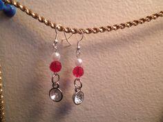Earrings 091 Ruby Crystal by AllMyEarrings on Etsy