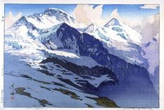 Artist: Yoshida Hiroshi    Title:Jungfrau (Swiss Alps)    Date:1925