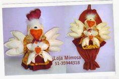 Moldes Para Artesanato em Tecido: Puxa saco de galinha com molde